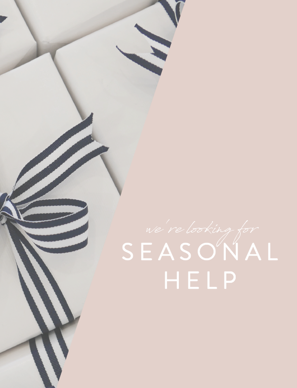 Join the Team: Seasonal Help Wanted