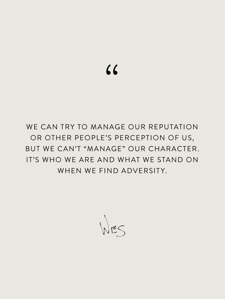 Wednesday Wisdom: You Can't Fake Character