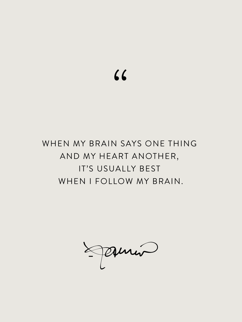 Wednesday Wisdom: Head vs. Heart