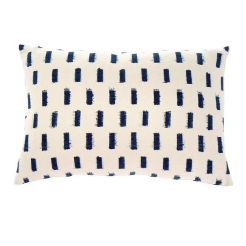 Dash Ikat Pillow, Navy
