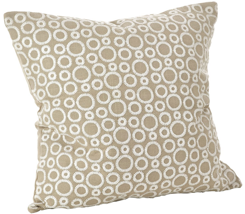 Circle Leah Embroidered Pillow