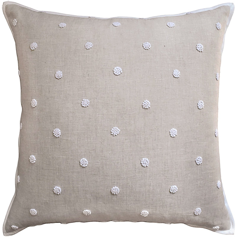 French Knot Embroidery Pillow