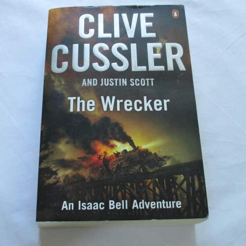 The Wrecker by Clive Cussler. A paperback action & adventure novel.