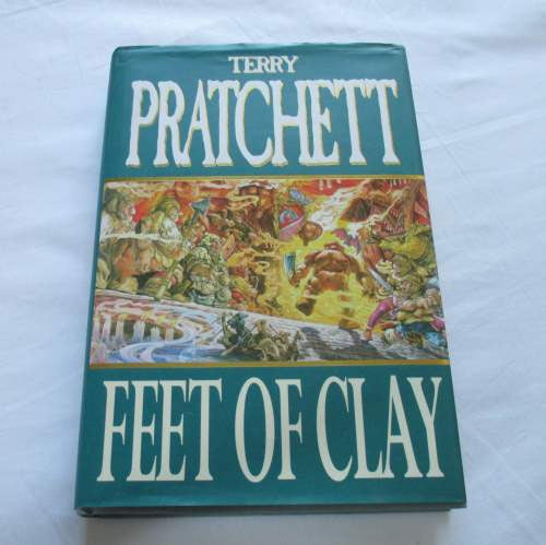 Feet Of Clay by Terry Pratchett. A hardback Fantasy novel.