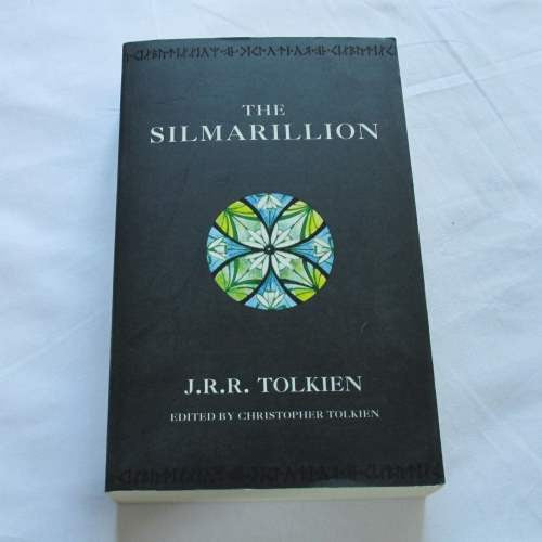 The Silmarillion by J.R.R. Tolkien. A paperback Fantasy novel.