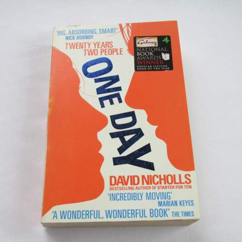 One Day by David Nicholls. A paperback contemporary novel.