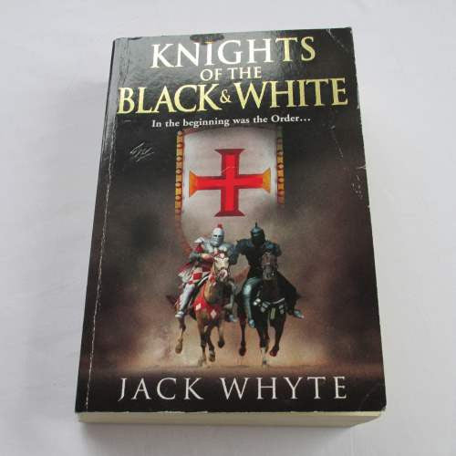 Knights of the Black & White by Jack Whyte. A paperback historical novel.