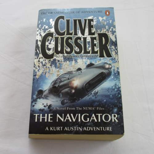 The Navigator by Clive Cussler. A paperback action & adventure novel.