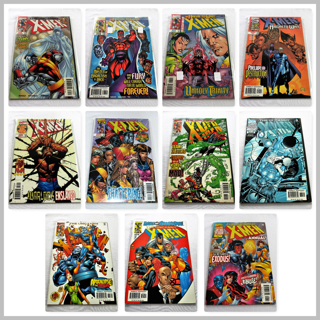 The Uncanny X-Men - 10 Marvel Comics and 1 annual in NM condition