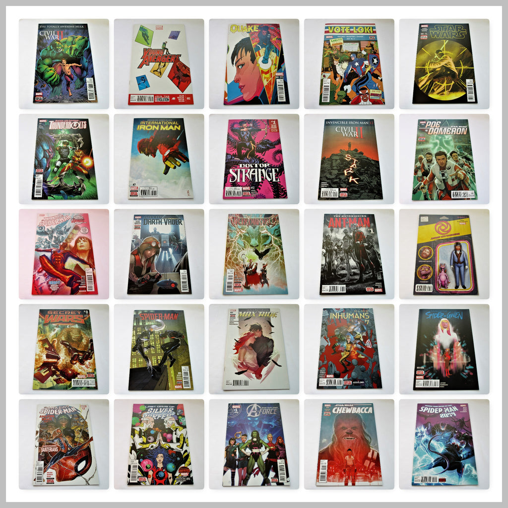 PACK OF 25 MARVEL COMIC BOOKS - each comic is modern age