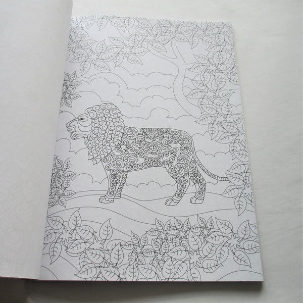 Inspiring Animals colouring book