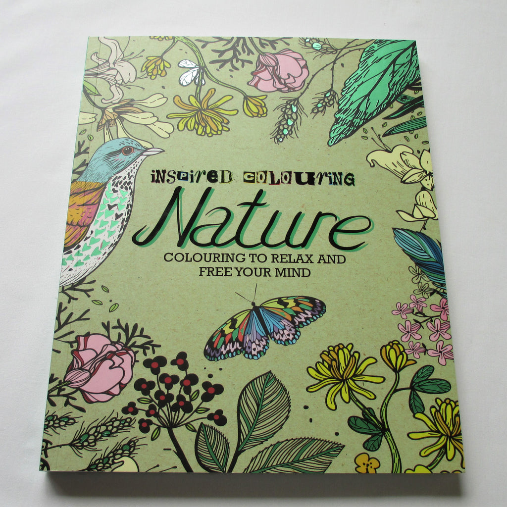 Inspired Colouring Nature adult colouring book