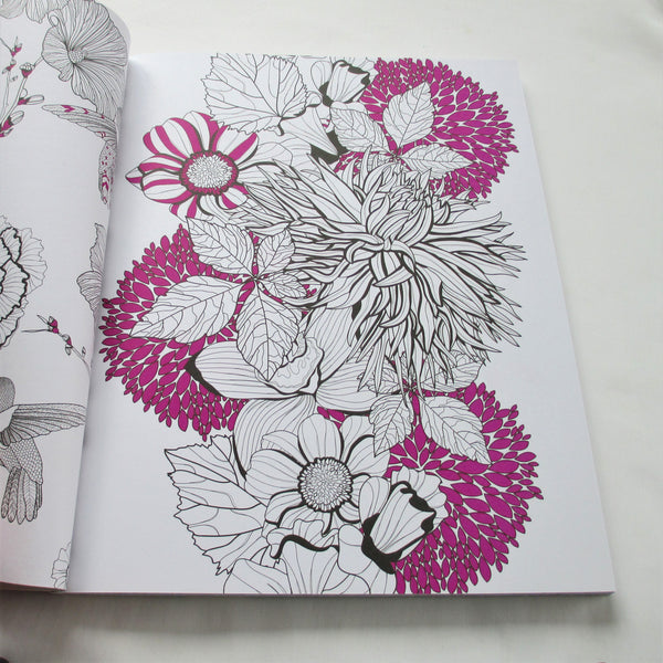 Inspired Colouring Flowers colouring book
