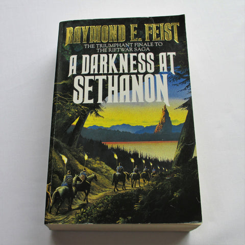 A Darkness at Sethanon by Raymond Feist. A paperback Fantasy novel.