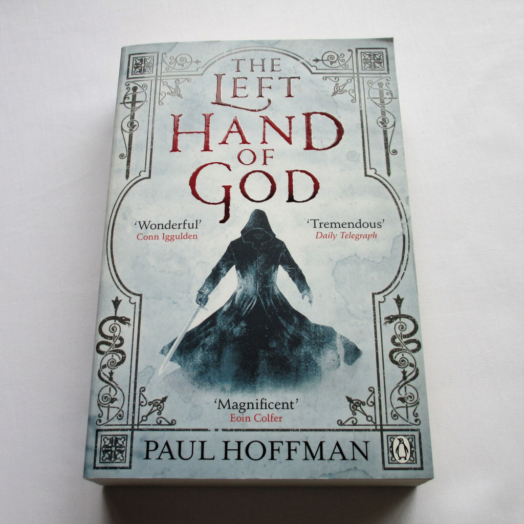 The Left Hand of God by Paul Hoffman. A paperback Fantasy novel.