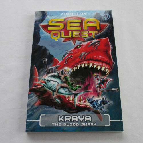 Kraya - The Blood Shark by Adam Blade. A paperback Fantasy novel.