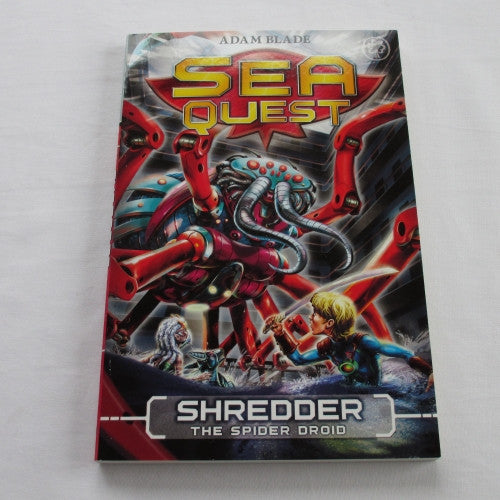 Shredder - The Spider Droid by Adam Blade. A paperback Fantasy novel.