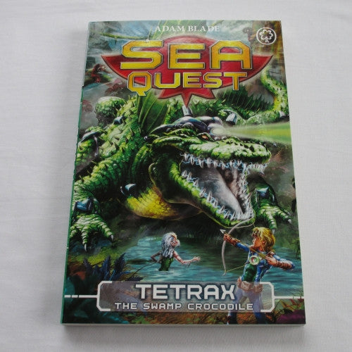 Tetrax - The Swamp Crocodile by Adam Blade. A paperback Fantasy novel.