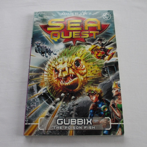 Gubbix - The Poison Fish by Adam Blade. A paperback Fantasy novel.