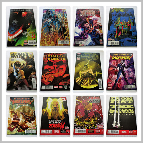 PACK OF 12 MARVEL COMICS - All modern age and new
