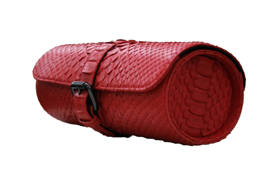 Red Python Watch Roll