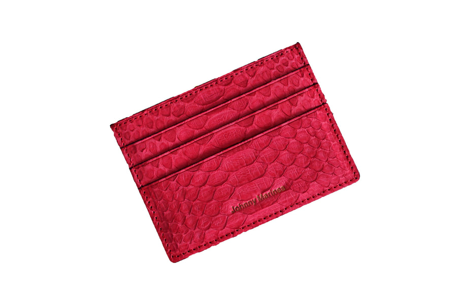 Red Python Card Holder