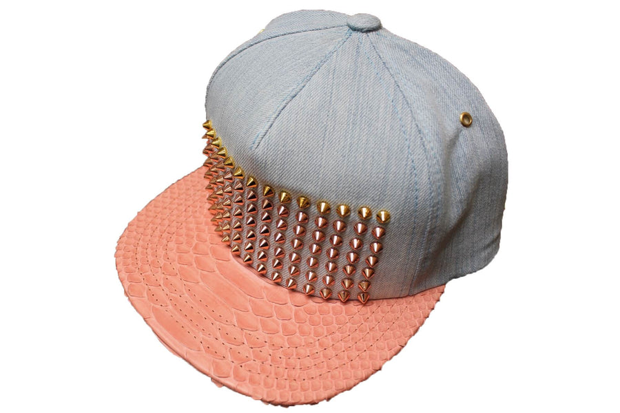 Denim Python Studded Hat