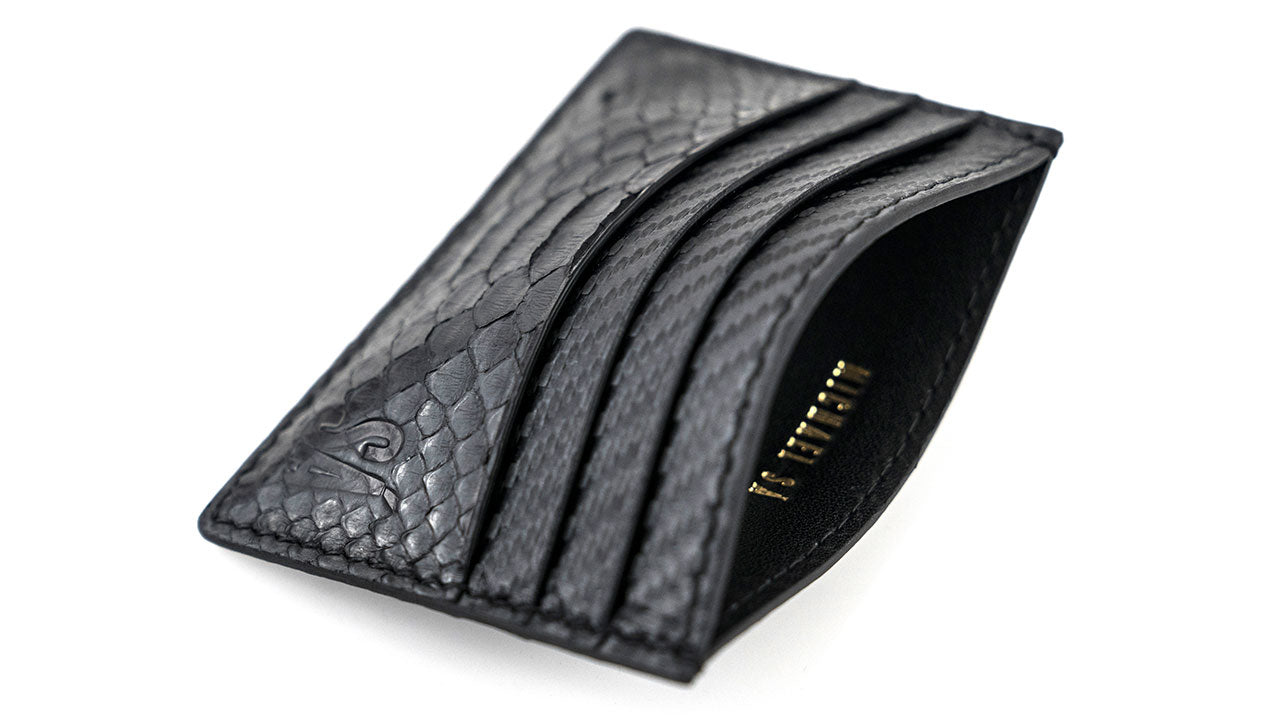 Black Python Carbon Fiber Card Holder