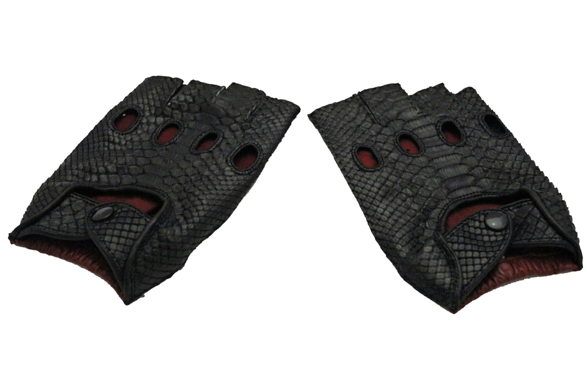 Fingerless Python Racing Gloves