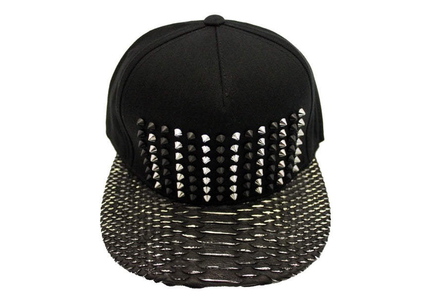 Silver Lined Python Strapback