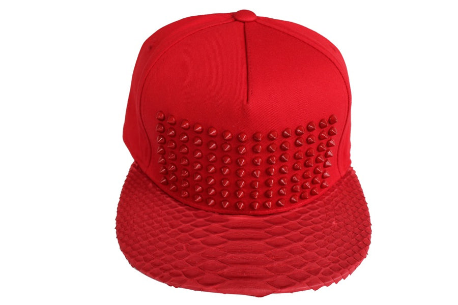 All Red Everything Python Strapback