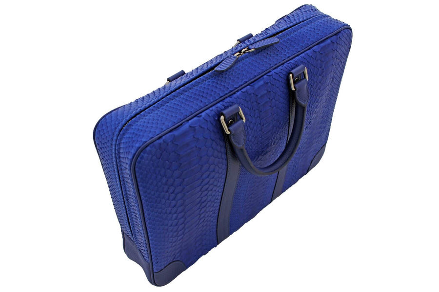 Electric Blue Python Laptop Bag