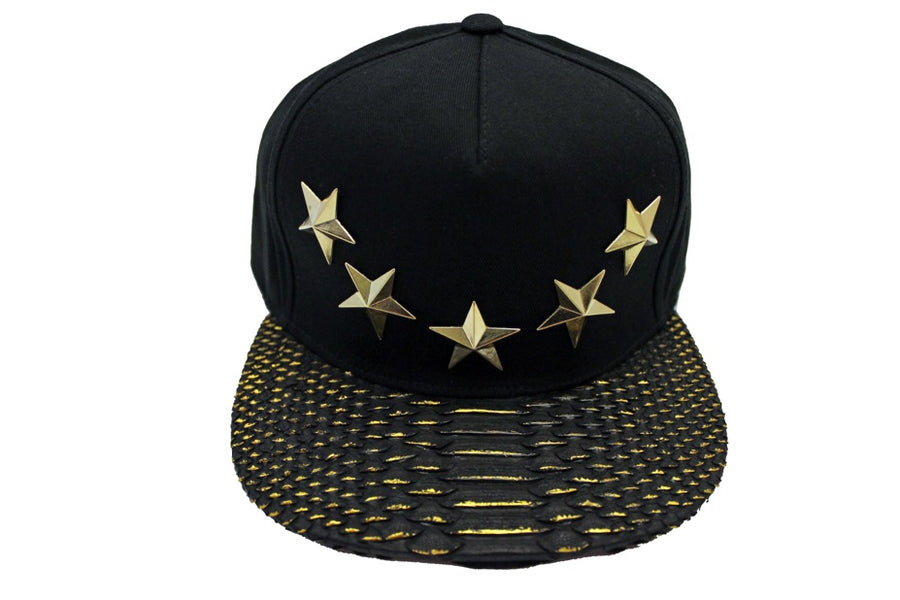 Gold Star Studded Strapback