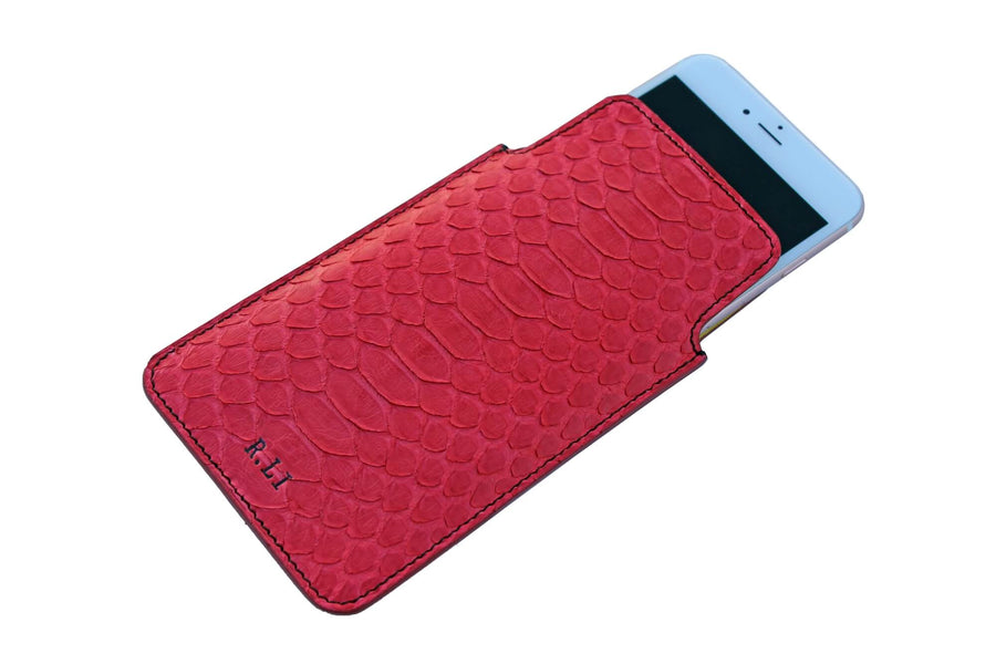Personalized Red Python iPhone Sleeve