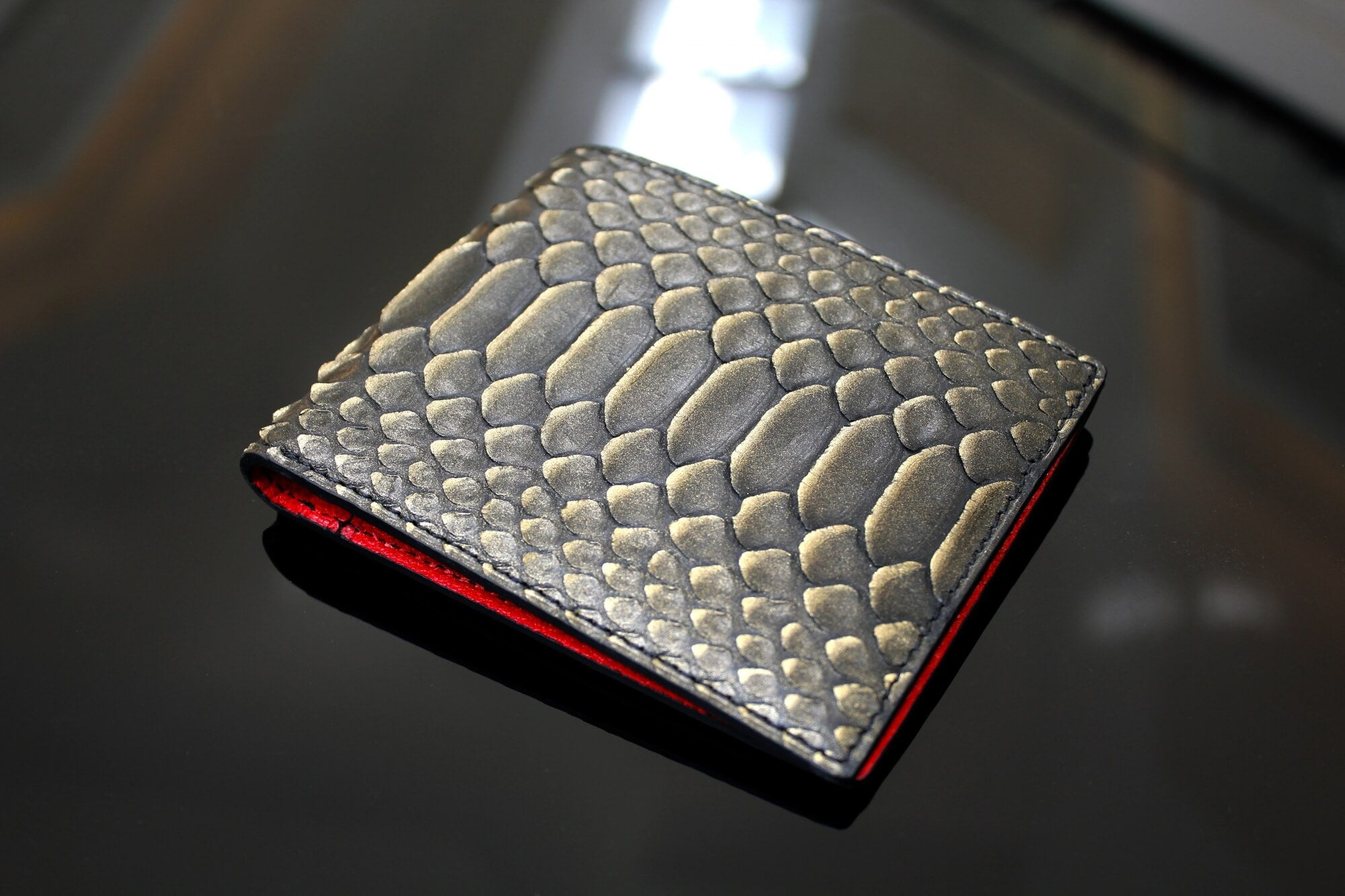 Gold Tipped Python Wallet