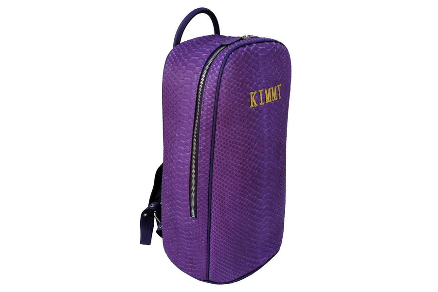 Custom Purple Python Backpack