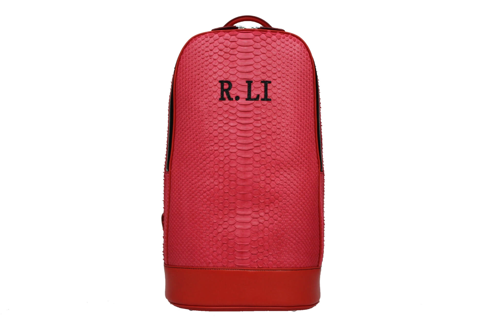 Personalized Red Python Slim Backpack
