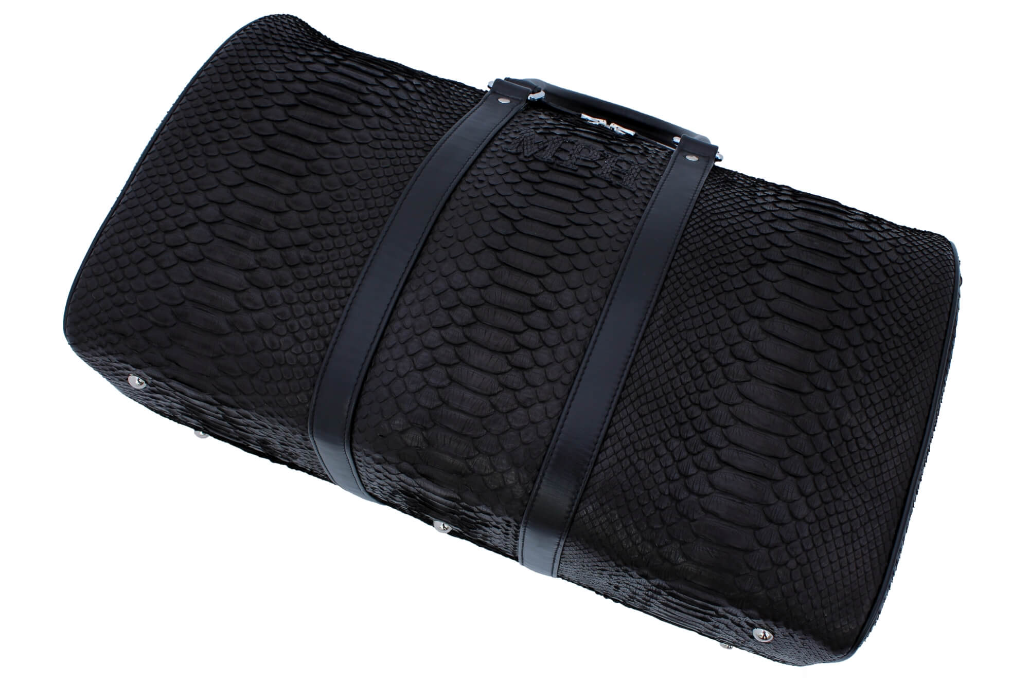 MPH Black On Black Python Duffle