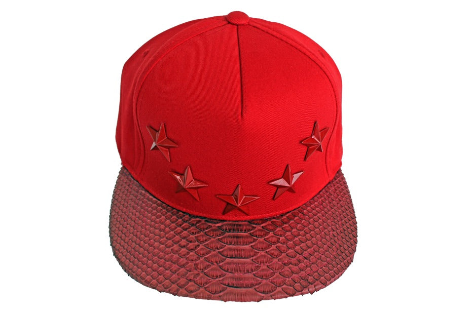 All Red Everything Star Studded Strapback