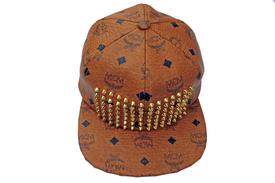 MCM Leather Studded Strapback