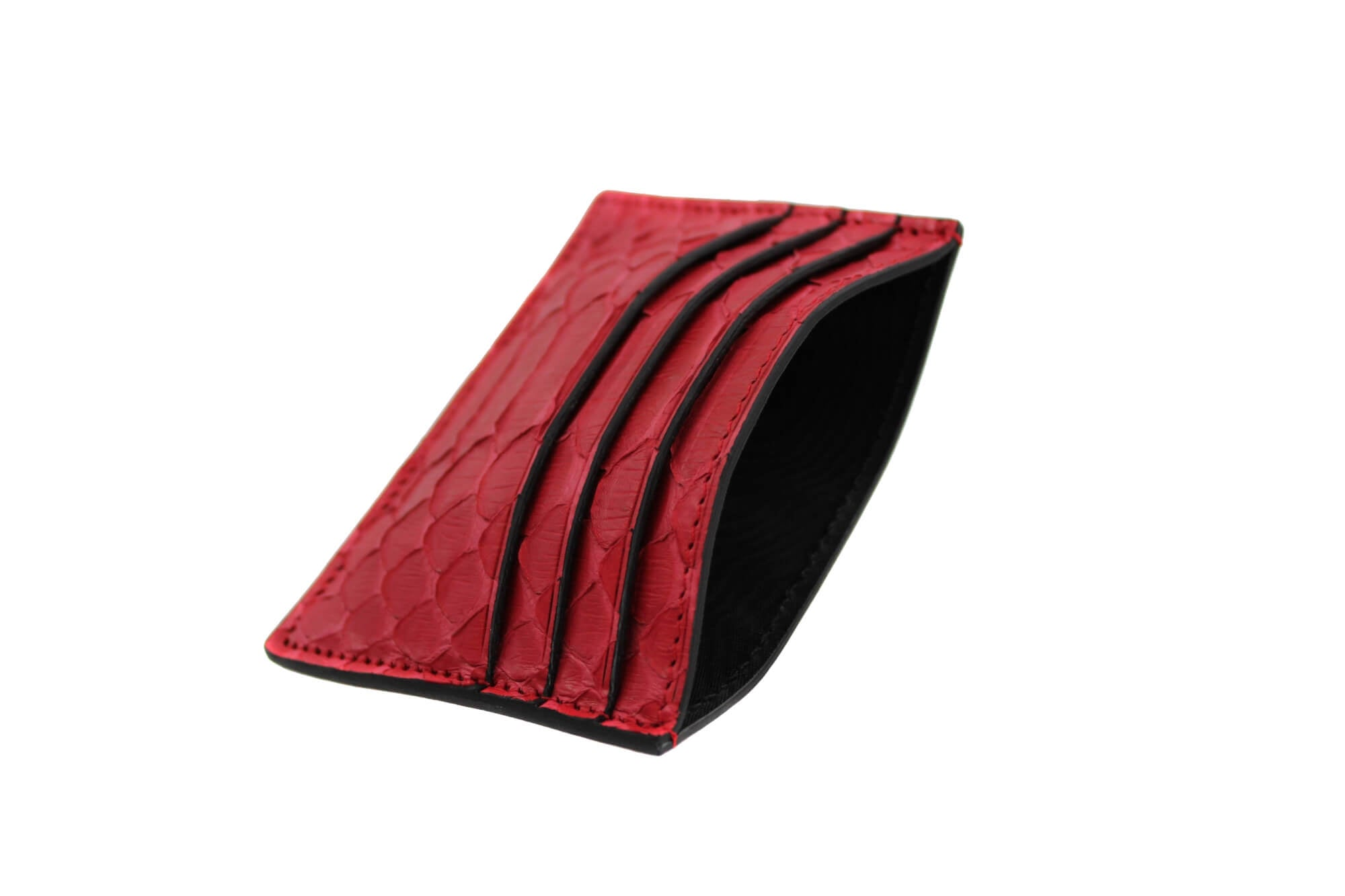 Red Python Money Clip Card Holder