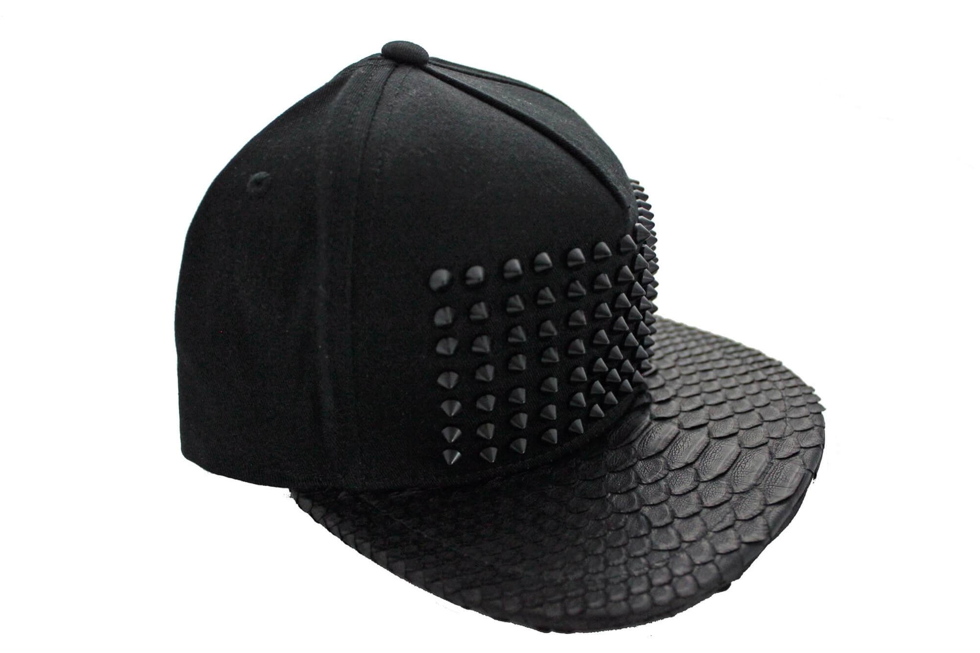 All Black Everything Python Snapback