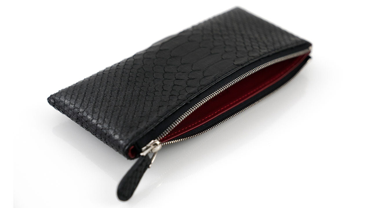 Black Python Skin Money Pouch