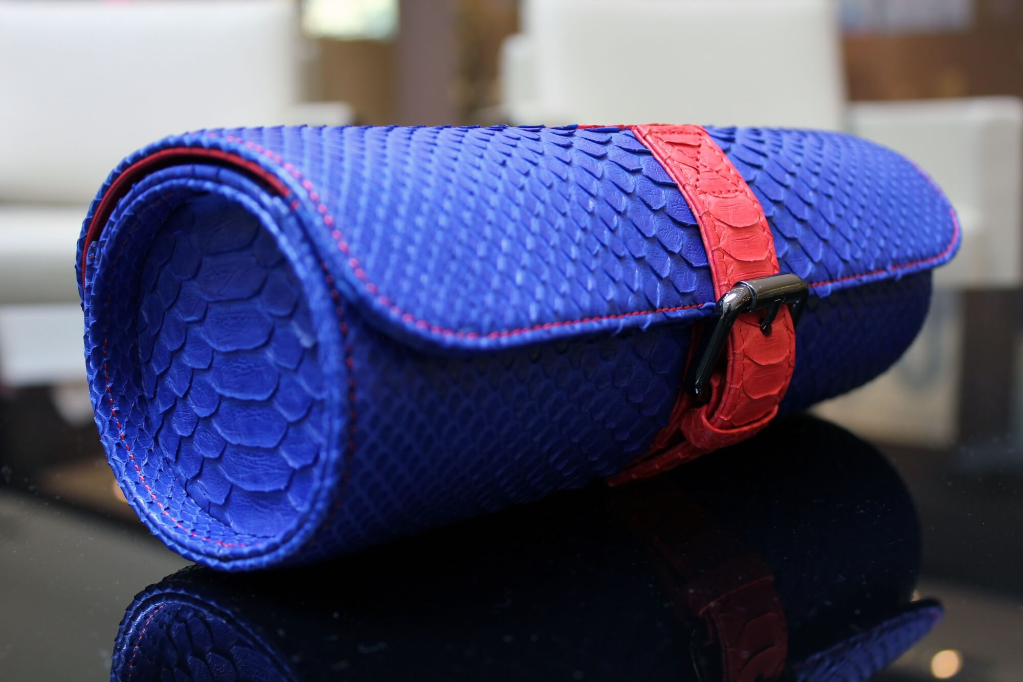 Blue Python Watch Roll