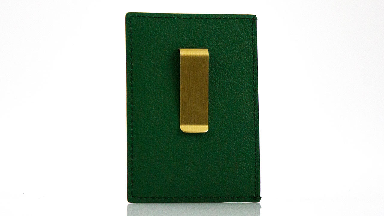 Green Python Money Clip Card Holder