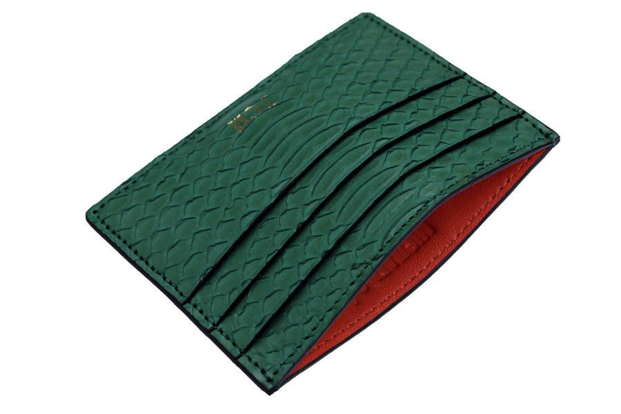 Military Green Python Card Holder