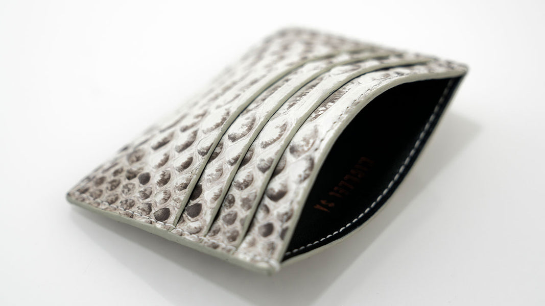 Natural Python Card Holder