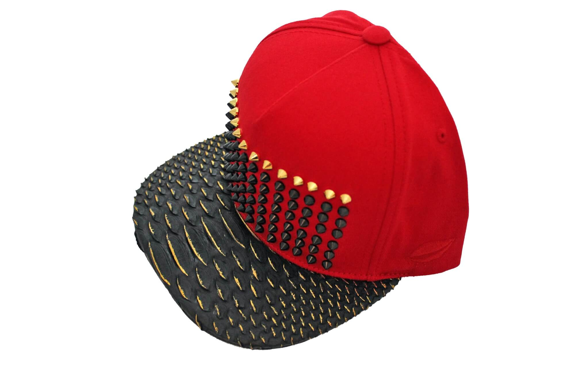 Red Gold Tipped Python Strapback