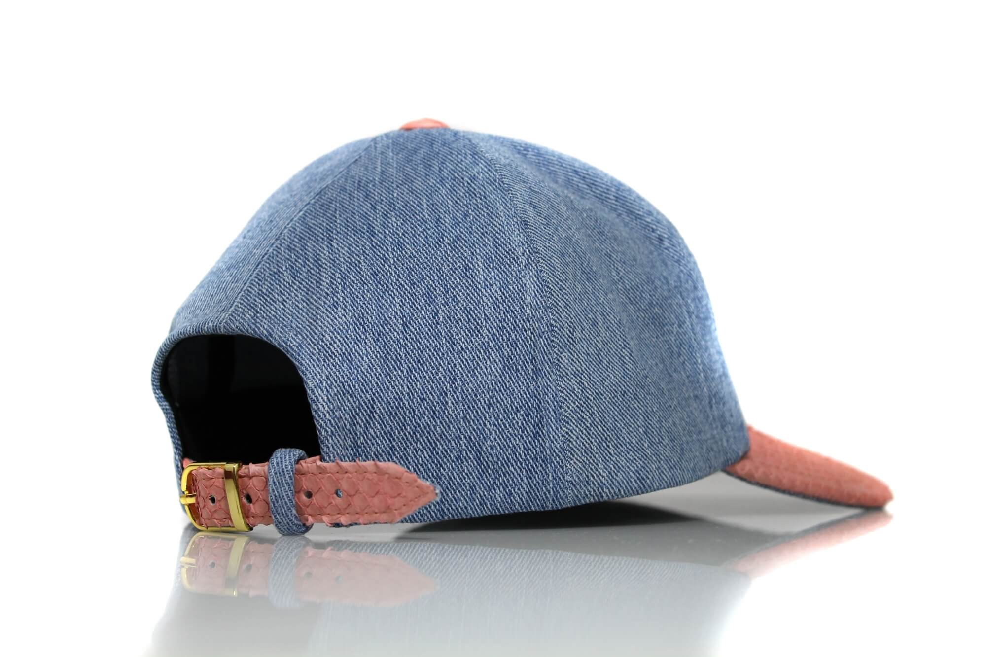 Low Profile Rose Python Denim Dad Hat