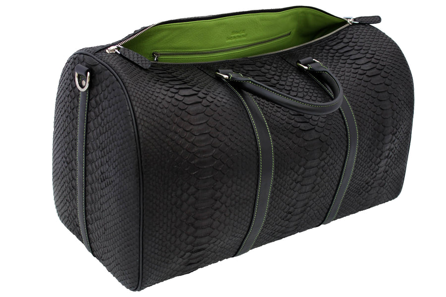 Green Accented Python Duffle